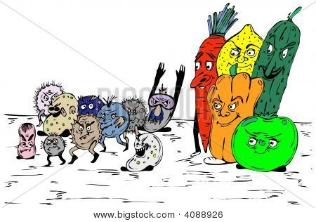 Bacterias And Fruit