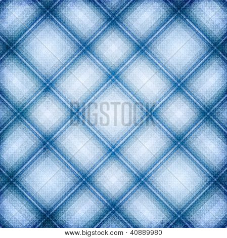 blue checked fabric seamless pattern