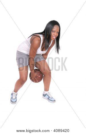 Woman Playing Basketball