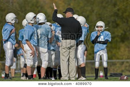 Youth Football Huddle