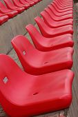 stock photo of grandstand  - Seat grandstand Red Rams are several rows - JPG