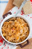 Spicy Stewed Cabbage With Mushrooms poster