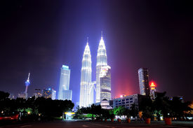 pic of klcc  - Cityscape night view of KLCC with magnificent light across the building - JPG