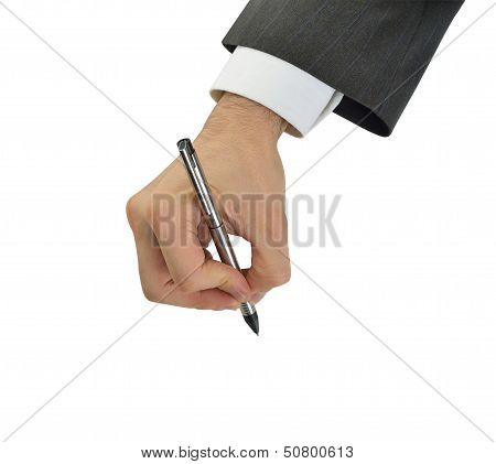 Hand signing executive