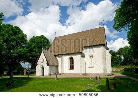 The Church In Vasteraker, Uppland, Sweden