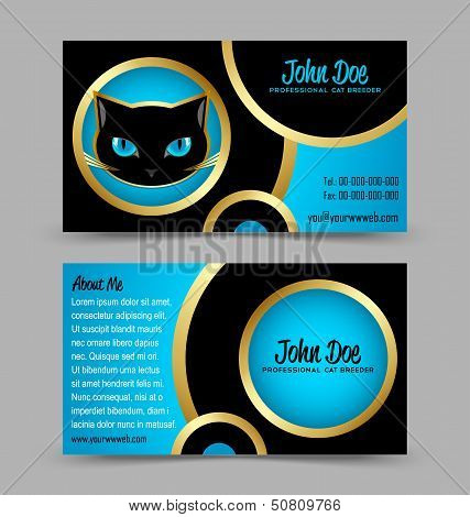 Cat Head Theme Business Card