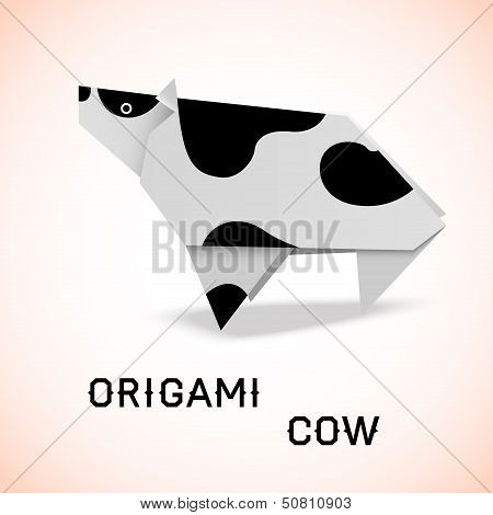 Cow Origami