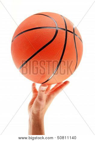 Basketball Isolated On White Background