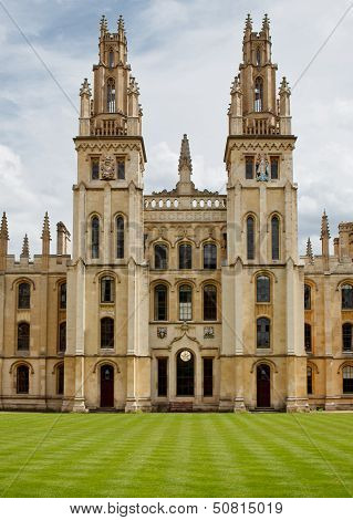 OXFORD, ENGLAND - JULY 26. All Souls College on July 26, 2013, Oxford, England