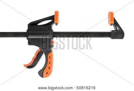 Construction Clamp Isolated On White