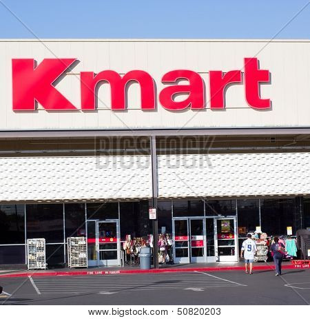 Sacramento, Usa - September 13: Kmart Store Entrance On September 13, 2013 In Sacramento, California