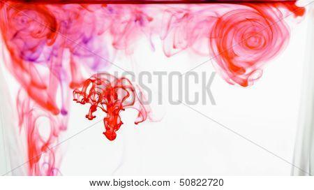 Dye Flowing Through Water