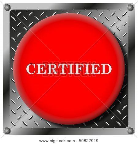 Certified Metallic Icon