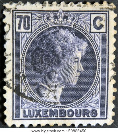 A stamp printed in Luxembourg shows Charlotte Grand Duchess of Luxembourg