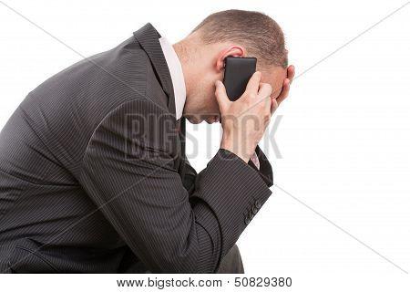 Man Receiving Bad News