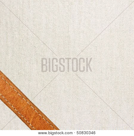 Leather And Textile Background