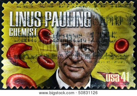 United States Of America - Circa 2008: A Stamp Printed In Usa Shows Linus Pauling, Chemist