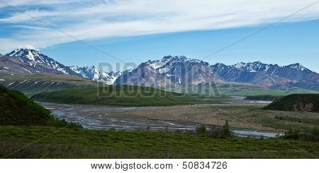 Denali's Rivers and Mountains