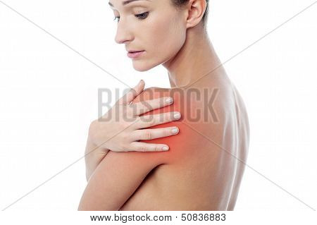 Young Woman Having Shoulder Pain