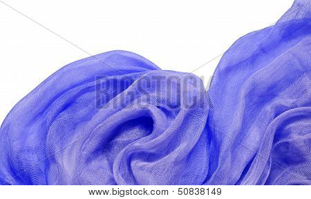 Blue Viscose Fabric With Drapery