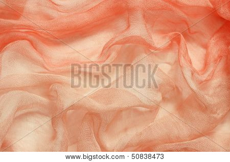 Peach Chaotic Draped Fabric