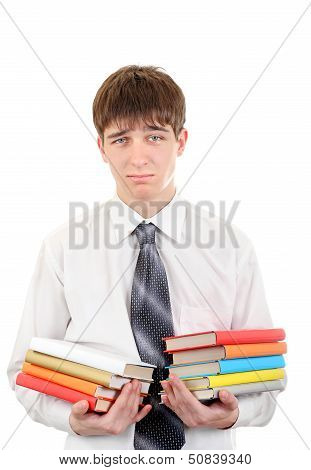 Student With Many Books
