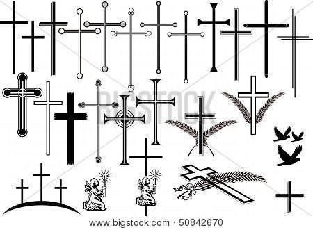 crosses and other orbituary symbols