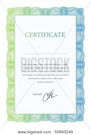 Template certificate, diplomas and currency. Vector illustration