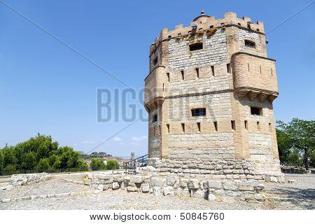 Monreal Tower In Tudela, Spain