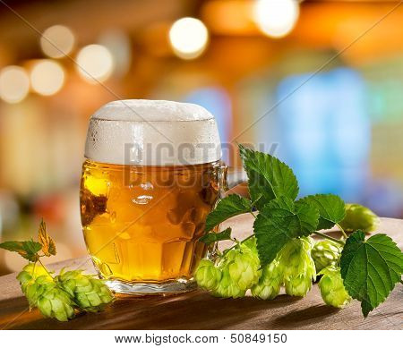 Hops And Beer Glass
