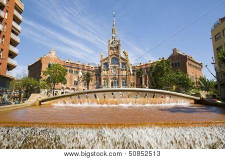 Hospital De La Santa Creu De Sain Pau In Barcelona