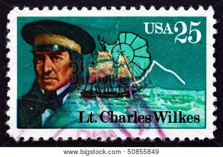 Postage Stamp Usa 1988 Lt. Charles Wilkes, Antarctic Explorer