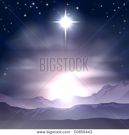 Christmas Star Of Bethlehem-Krippe