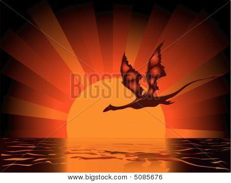 Dragon On Sundown.