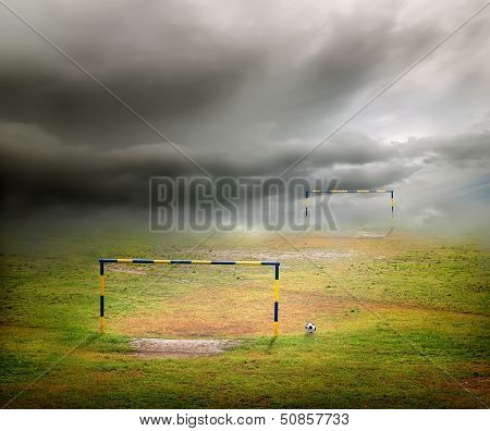 Clouds over the football field