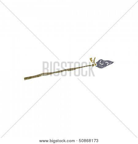 retro cartoon primitive spear