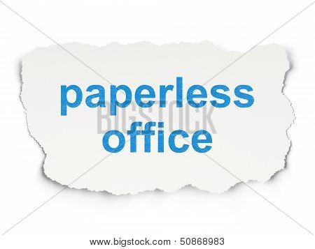 Business concept: Paperless Office on Paper background