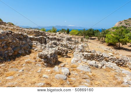Ruins Of Gournia. Crete, Greece