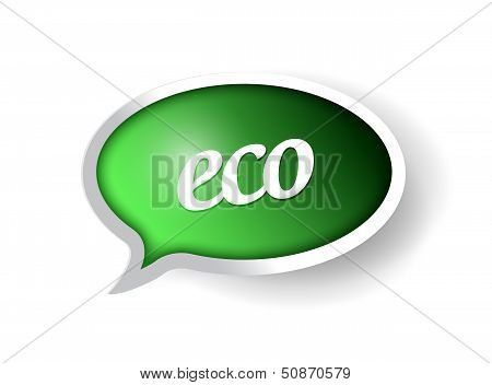 Eco Message Bubble Illustration Design