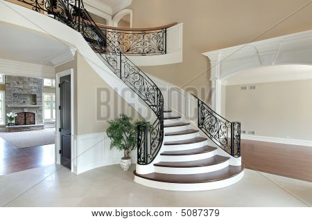 Foyer With Grand Staircase