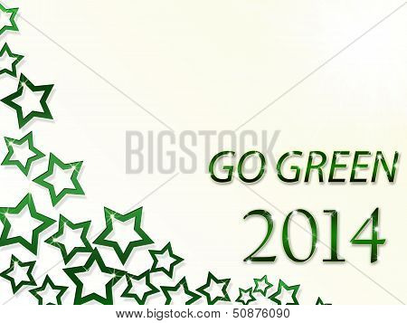 Happy New Year 2014 and Go Green Stars