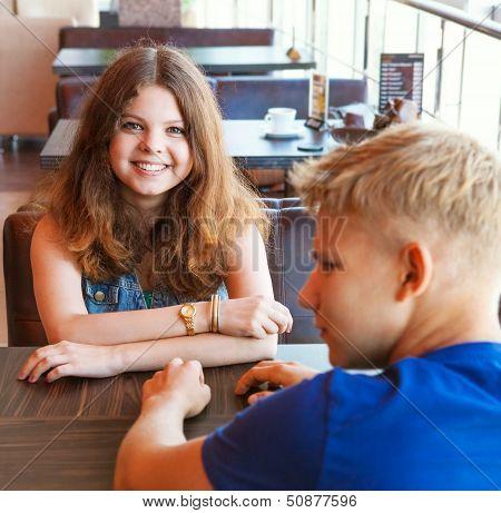 Rendezvous In Cozy Cafe