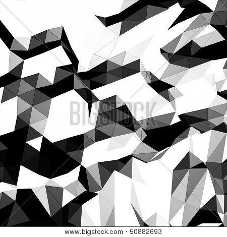 Grayscale triangular background