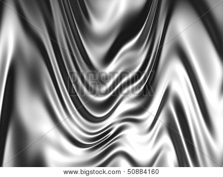 Silver color silk background 3d illustration