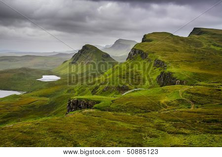 Scenic View Of Mountains With Dramatic Sky