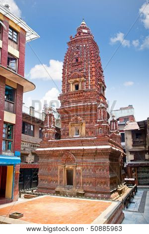 Mahabuddha temple in Patan, Kathmandu, Nepal. Mahabuddha temple is dedicated to Siddhartha Gautama, the historical Buddha.