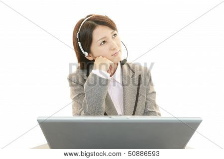 Dissatisfied call center operator