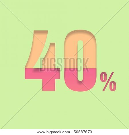 Forty percent symbol