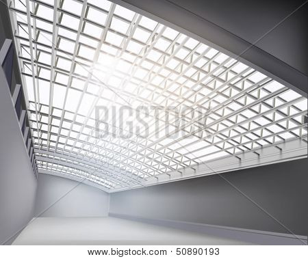 Construction of a hall. Vector illustration.