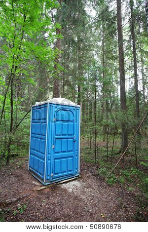 Toilet in the forest
